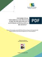 FIC - Desarrollo de Protocolo para la Toma de Decisiones en Torno a la Actividad Acuícola en la Cuenca de Río Bueno
