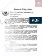 Resolución Administrativa N° 102-2020-CE-PJ