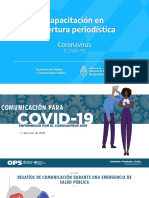 Comunicacion de Riesgo Taller Coronavirus Para Periodistas