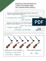 COMPRENSION LECTORA GRADO PRIMERO- MATEMATICAS