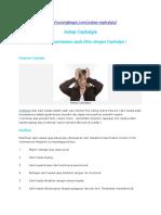 askep cephalgia