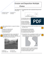 Weathering Erosion and Deposition Multiple Choice