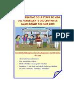 PLAN OPERATIVO ADOLESCENTES 2019 9 de abril
