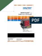 Conzerv Em 6400 Series Power Meter User Manual