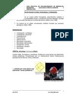 Práctica Calificada Mineralogía