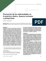 Prevención de las enfermedades en la práctica clínica. Avances recientes y perspectivas