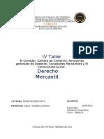 Taller 4 de Derecho Mercantil