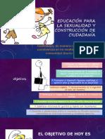 EDUCACIÓN PARA LA SEXUALIDAD Y CONSTRUCCIÓN DE  ciudadanía