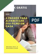 e-book 3 passos para alfabetizar seu filho em Casa