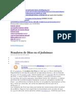 HASHEM Nombres de Dios en el judaísmo.docx