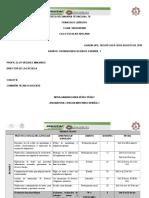 CRONODOSIFICACIÓN DE ESPAÑOL I 2019-2020