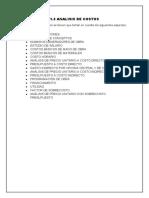 1.3 analisis de costos