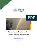 Marco Antonio Montes de Oca - Ceremonias de la metamorfosis