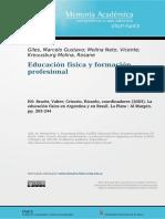 La formación profesional en Educación Física - Marcelo Giles