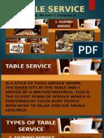 TABLE SERVICE lesson 3