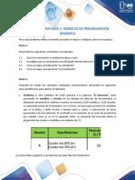 T1. Taller - laboratorio Modelos de Programacion Dinamica