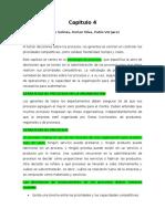 Resumen capitulo 4 Diego salinas, Dorian Silva, Pablo Vergara (Gestion de operaciones)