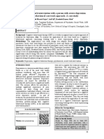 Psychiatric social work intervention with a person with severe depression based on cognitive behavioural case work approach