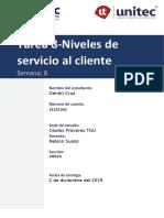 Tarea 8-Niveles de servicio al cliente-Gendri Cruz