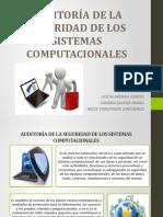 AUDITORÍA DE LA SEGURIDAD DE LOS SISTEMAS COMPUTACIONALES