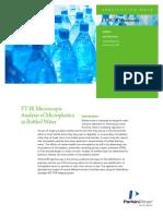 FT-IR Mircoscopic Analysis Microplastics Bottled