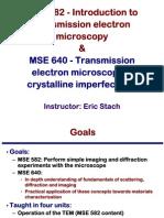 Transmission Electron Microscopy Skills:Introduction to transmission electron microscopy
