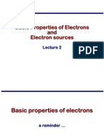 Transmission Electron Microscopy Skills:Basic Properties of Electrons and Electron sources Lecture 2