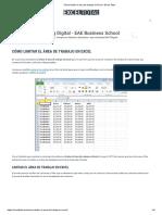 Cómo limitar el área de trabajo en Excel