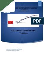 CALCULO DE DIAMETRO DE TUBERIA