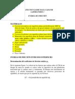 LABORATORIO 1 COEFICIENTE DE FRICCIÓN