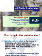 Hydrothermal alteration