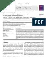 Three-dimensional modeling and sensitivity analysis of multi-tubular metal hydride reactors