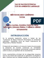 SUSTANCIAS DE MAYOR POTENCIAL TOXICOLOGICO EN AMBIENTES LABORALES (EXPO) [Autoguardado] (2)