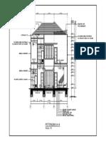 05. Potongan A-A - Gambar Kerja Rumah 2 Lantai-Model
