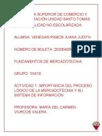 Importancia del proceso lógico de la Mercadotecnia y su sistema de Información_Venegas Ramos Juana Judith