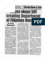 Peoples Journal, Mar. 12, 2020, House okays bill creating Department of Filipinos Overseas.pdf