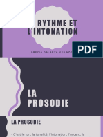 Le Rythme, l'intonation et la syllabe