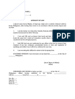 Affidavit of Loss (ATM)