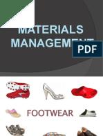 Footwear Materials Managent
