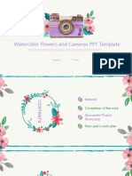 Watercolor-Flowers-and-Camera-PPT-Template