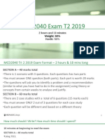 MCD2040 T2 2019 Exam Content and Structure