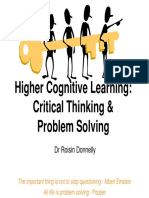 R Donnelly Critical Thinking and Problem Solving