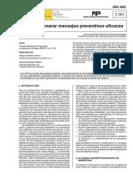 NTP 1141  Cómo generar mensajes preventivos eficaces - Año 2020
