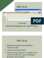 HEC-RAS Tutorial Flume Example