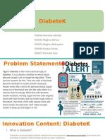 DiabeteK _ PPT assignment for bioentrepreneur