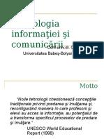 Tehnologia informaţiei şi comunicării