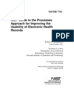 NIST Guide to the Processes Approach for Improving the Usability of Electronic Health Records