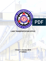2019 Citizen's Charter of Land Transportation Office