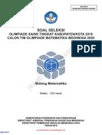 1. Soal dan Kunci Jawaban OSK Matematika SMA 2019 ( j4wab.blogspot.com )