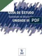 Guia de Estudos da Unidade 3 - Qualidade na Educação